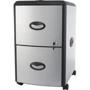 STOREX 2-Drawer Mobile File Cabinet with Lock