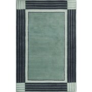 Chandra Allie Hand Tufted Wool Teal Blue/Navy Blue Area Rug; 8' x 10'