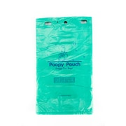 Poopy Pouch Heavy 0.75 Gallon Capacity Trash Bags, Green, 12 Packs/Case (PP-H-200)