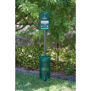 Poopy Pouch 10gal Steel Trash Cans with Lid, Green (PP-H-Kit)