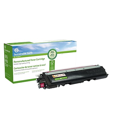 Sustainable Earth by Staples - Cartouche de toner magenta, remise à neuf, Brother TN210M (SEBTN210MR)