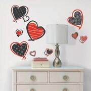 Room Mates Studio Designs Mod Heart Wall Decal