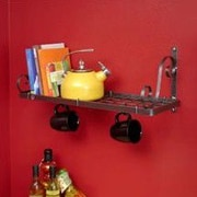 Enclume Decor Bookshelf Wall Mounted Pot Rack