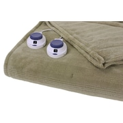 Perfect Fit Industries Triple Rib Electric Heated Warming Throw; Sage Green