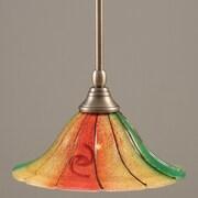 Toltec Lighting Stem Mini Pendant w/ Hang Straight Swivel; Brushed Nickel