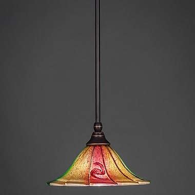 Toltec Lighting Stem Mini Pendant w/ Hang Straight Swivel; Dark Granite
