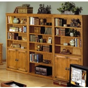 kathy ireland Home by Martin Furniture Huntington Oxford 2 Door 72'' Standard Bookcase; Wheat