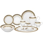 Lorren Home Trends Iris 57 Piece Porcelain Dinnerware Set