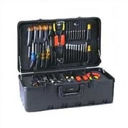 Chicago Case Stream-lined Tool Case with Built-in Cart; Black