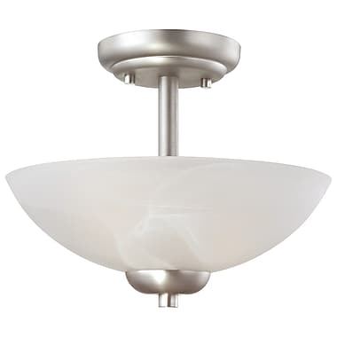 Thomas Lighting Tia 2-Light Inverted Pendant; Matte Nickel