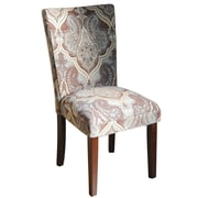 HomePop Kinfine Upholstered Damask Parsons Chair (Set of 2)