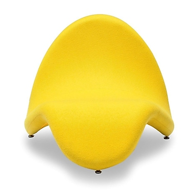 Ceets Tongue Lounge Chair; Yellow