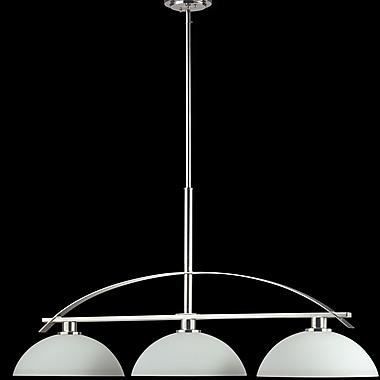 Z-Lite Ellipse 3-Light Kitchen Island Pendant; Chrome