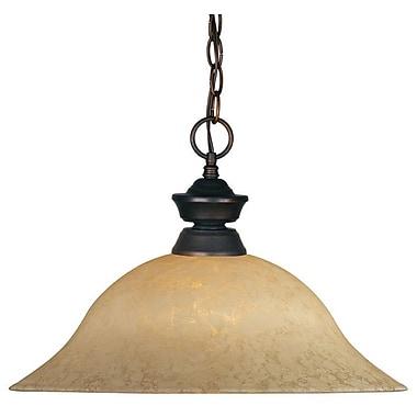 Z-Lite 1 Light Pendant; Olde Bronze
