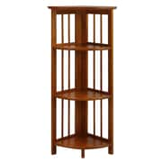 Casual Home Folding 38'' Corner Units; Honey Oak