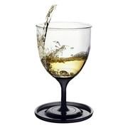 AdNArt Stackable Vino 10oz Wine Glasses (Set of 2) (Set of 2); Black