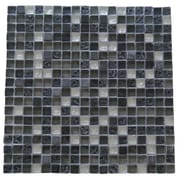 Abolos 0.63'' x 0.63'' Glass and Quartz Mosaic Tile in Fossil