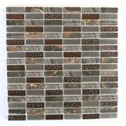 Abolos 0.63'' x 2'' Glass and Quartz Mosaic Tile in Chestnut