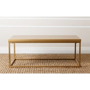 Abbyson Living Coffee Table; Gold