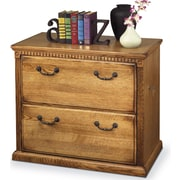 kathy ireland Home by Martin Furniture Huntington Oxford 2-Drawer Lateral File Cabinet; Wheat