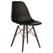 eModern Decor Shell Side Chair; Black
