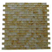 Abolos Amber 0.63'' x 1.25'' Glass Mosaic Tile in Miele