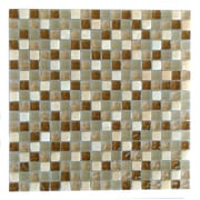 Abolos 0.63'' x 0.63'' Glass and Quartz Mosaic Tile in Deserto