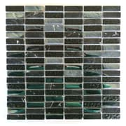 Abolos 0.63'' x 2'' Glass and Quartz Mosaic Tile in Lugnut
