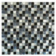 Abolos 0.63'' x 0.63'' Glass and Quartz Mosaic Tile in Multi
