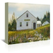 Americanflat Lupines At The School Painting Print on Wrapped Canvas; 32'' H x 48'' W x 1.75'' D