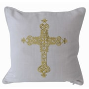 Decorative Leather Books, LLC Elizabeth Embroidered Throw Pillow