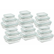 Glasslock 36 Piece Rectangular Food Storage Container Set