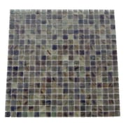 Abolos Amber 0.63'' x 0.63'' Glass Mosaic Tile in Oregano