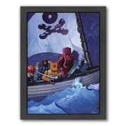 Americanflat Robo Pirates CMYK Framed Painting Print