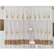 Dainty Home Spring Single Curtain Panel; White/White