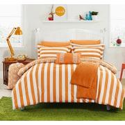Chic Home Paris 8 Piece Comforter Set; Orange