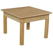 Wood Designs 24'' Square Classroom Table; 17'' H x 24'' W x 24'' D