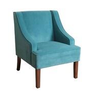 HomePop Swoop Arm Chair; Teal