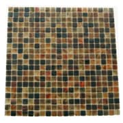 Abolos Amber 0.63'' x 0.63'' Glass Mosaic Tile in Cappuccino