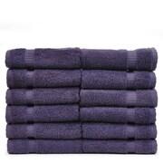 Bare Cotton Luxury Hotel and Spa Towel 100pct Genuine Turkish Cotton Wash Cloth (Set of 12); Plum