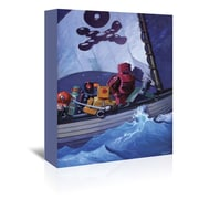 Americanflat Robo Pirates CMYK Painting Print on Wrapped Canvas; 30'' H x 24'' W x 1.75'' D
