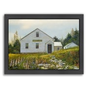 Americanflat Lupines At The School Framed Painting Print