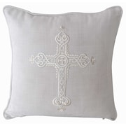 Decorative Leather Books, LLC Mary Embroidered Throw Pillow
