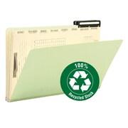 "Smead® Pressboard Mortgage File Folder, 2/5-Cut Right Position Flat Metal Tab, 14-3/4""W x 10""H, Guide Height, 10/Box (78208)"