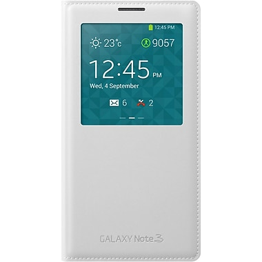 Samsung S View Leather Note 3 Case, White