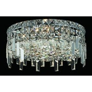 Elegant Lighting Maxim 4 Light Semi Flush Mount; 12'' / Elegant Cut
