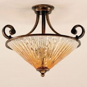 Toltec Lighting Curl 3 Light Semi Flush Mount