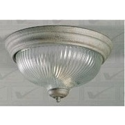 Volume Lighting 3 Light Ceiling Fixture Flush Mount; Brushed Nickel