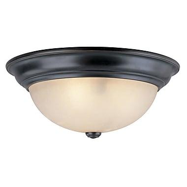 Dolan Designs Fireside 1-Light Flush Mount; 6.25'' H x 16'' W