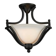 Z-Lite Lagoon 2 Light Semi-Flush Mount; Matte Black
